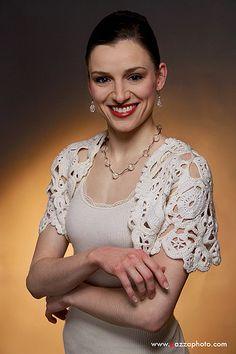 White Crochet Wedding Bolero Anthropologie Inspired. http://www.etsy.com/listing/95755414/white-crochet-wedding-bolero?ref=v1_other_2#Etsy.