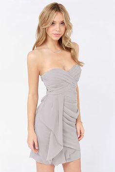 Gray Grey Bridesmaid Dress   $72+   LuLu   wedding ceremony reception bridesmaids maid of honor