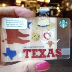 Texas Starbucks gift card!