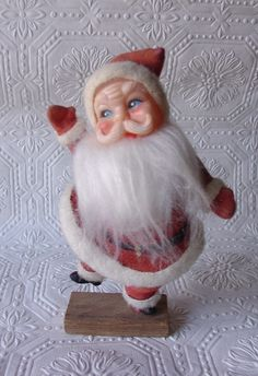 Vintage Santy Clause. I have this, along with his reindeer at mom's. I always had to be the one to put them on the tree.