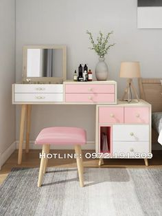 Vanity Table Set, Table Settings, Mirror, Furniture, Decoration, Home Decor, Girl Rooms, Decorating Rooms, Girl Room Decor