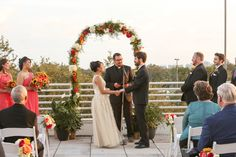 This lovely fall wedding had the perfect flower details for the ceremony! Photography: Photo By Greg