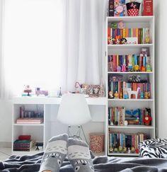 Study Room Design, Study Room Decor, Room Design Bedroom, Cute Room Decor, Teen Room Decor, Room Ideas Bedroom, Home Room Design, Diy Bedroom Decor, Home Decor