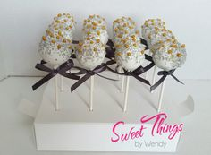 Custom colour cake pops with ribbon  sweetthingsbywendy.ca Cake Pop Favors, Party Favours, Edible Favors, Colorful Cakes, Cake Pops, Sticks, Ribbon, Treats, Colour