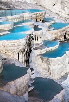 Pamukkale in Turkey.