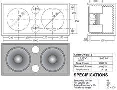 Resultado de imagen para subwoofer box design for 12 inch Car Speaker Box, Speaker Box Design, Speaker Plans, Audio Amplifier, Audiophile, Subwoofer Box Design, Music Speakers, Work Tools, Loudspeaker