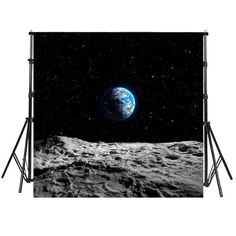 Earth Moon Land Backdrop for Photography Backdrops Birthday School Universe Planet Background Photo Booth Printed Fabric Props Fabric Photography, Background For Photography, Photography Backdrops, School Photography, Professional Photography, Moon Landing Photos, Vinyl Fabric, Galaxy Art, Family Portraits