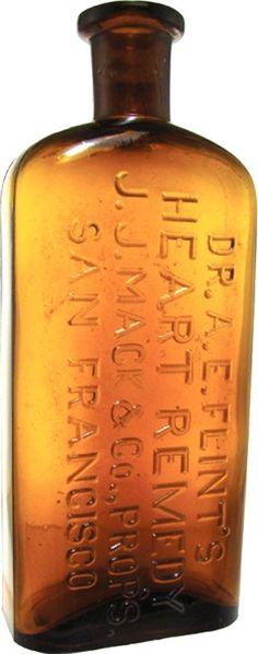 Matt's Collectibles- Antique Medicines- Heart Specific Patent Medicines Old Medicine Bottles, Antique Glass Bottles, Apothecary Bottles, Vintage Bottles, Vintage Tins, Bottles And Jars, Mason Jars, Vintage Medical, Glass Collection