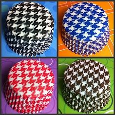 houndstooth cupcake liners
