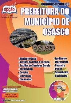 Apostila Concurso Prefeitura Municipal de Osasco / SP - 2014: - Cargo: Comum Diversos Empregos
