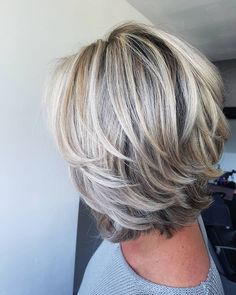 80 Creative Short Haircuts and Layered Hairstyle Ideas 2019 - Short Hairstyles: . 80 Creative Short Haircuts and Layered Hairstyle Ideas 2019 - Short Hairstyles: Best Short Hair Cuts & Styles 2019 Short Hair With Layers, Short Hair Cuts, Blonde Layers, Medium Hair Styles, Curly Hair Styles, Hair Medium, Hair Styles For 50, Mid Length Hair Styles For Women Over 50, Blond Medium Length Hair