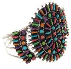 Southwest Multicolor Sterling Silver Bracelet Jewelry GS57995