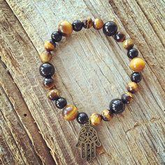 Tourmaline and tiger eye bracelet for Patience&Protection #healingcrystals #mantra #mantrahj #yogamontreal #patience #parenthood #om #handoffatima #handmade #highvibrations #gemstonejewellery #hasma #malabeads #mala #japamala #yogi #spiritual #spirituality
