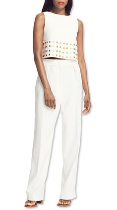 How to Wear New Shapes - The Crop Top: Just Grazing a Higher Waist from #InStyle