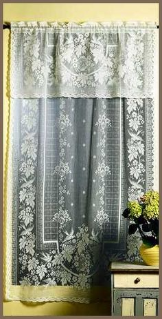 Lace curtains in every window