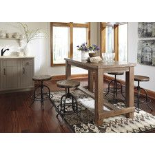 love this farmhouse counter height table. so cheap I'm going to use it as my kitchen island!