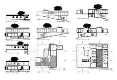 Casa de Vidrio - Lina Bo Bardi – CAD Design | Free CAD Blocks,Drawings,Details