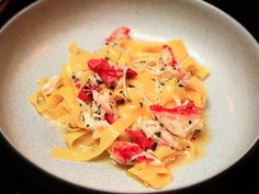 Tagliatelle,Alaskan king crab, with butter,