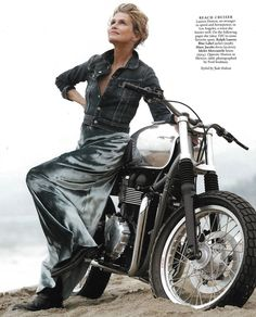 American Style Icon Lauren Hutton pairs her dress with a Blue Label Denim Jacket in the June Issue of Town & Country Magazine