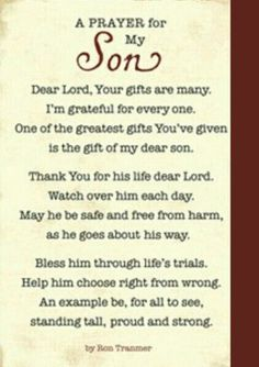 prayer, prayer for son, inspiration Prayer For My Son, Prayer For My Children, Quotes Children, Prayer Quotes, Bible Quotes, Qoutes, I Love My Son, To My Son, Prayer Board