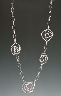 Judie Raiford Sterling Silver Dale's Roser Necklace
