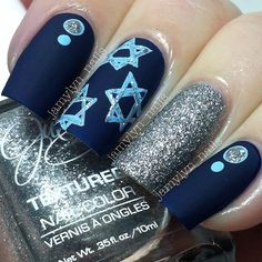 Star Of David Nails Chaunukah