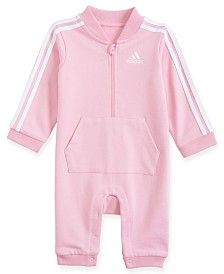 Adidas Originals Adidas Baby Boys French Terry Coverall In Light Pink Adidas Baby, Pink Adidas, Baby Nike, Sporty Look, Sporty Style, Adidas Originals, Jumpsuit For Kids, Jumpsuits For Girls, Kids Boys