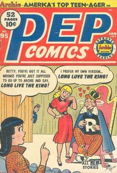 A cover gallery for the comic book Pep Comics Archie Comics Characters, Archie Comic Books, Old Comic Books, Vintage Comic Books, Comic Book Covers, Vintage Comics, Old Comics, Funny Comics, Class Comics