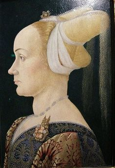 .     Fra Filippo Lippi (Italian Renaissance painter, c 1406–1469) also called Lippo Lippi, Portrait of a Woman with a Man at a Casement Win...