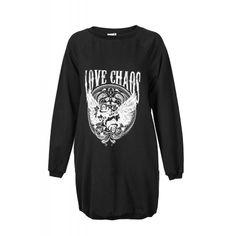 LOVE CHAOS SWEAT DRESS Sweat Dress, Fall, Long Sleeve, Sleeves, Mens Tops, T Shirt, Shopping, Dresses, Fashion
