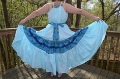 Blue Hand Dyed and Patchwork Gypsy Hippie Festival by Linarain, $49.00