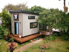 This roomier tiny house in Australia is built for a couple and their two dogs.