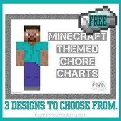 Minecraft Themed Chore Charts