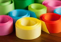 Grosgrain Ribbon in variety of designs such as solid color, polka dot, swiss dot, jumbo dots, metallic edge and more. Ships within 24 hours. Wholesale Available After Registration.