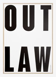 Out Law by Playtype | Poster from theposterclub.com