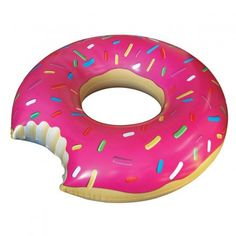 4 Foot Inflatable Giant Pink Donut Shaped Pool Float Raft Ring Water Fun Bite for sale online Jacuzzi, Giant Strawberry, Frost Donuts, Cooking Toys, Design3000, Donut Shape, Shops, Beach Toys, Summer Pool