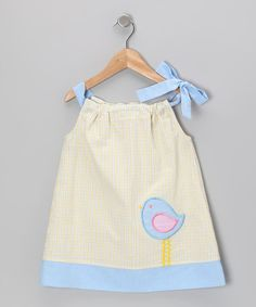 Take a look at this Yellow Seersucker Bird Swing Dress - Infant, Toddler & Girls by Shine by Castles & Crowns on #zulily today!