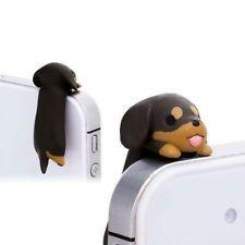 3.5mm Dog Anti-Dust Ear Cap Kawaii Dachshund Puppy Mobile Phone Charm Jack Plug