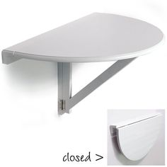 """Awesome """"wall mounted desk"""" info is available on our website. Take a look and you wont be sorry you did. Wall Table Folding, Wall Mounted Table, Folding Picnic Table, Diy Table, Circle Dining Table, Half Round Table, Circle Sofa, Fold Down Table, Portable Table"""