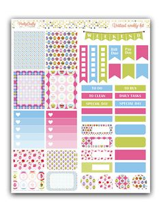 Cupcakes stickers kit  Themed weekly kit  by PrettyCraftyStickers