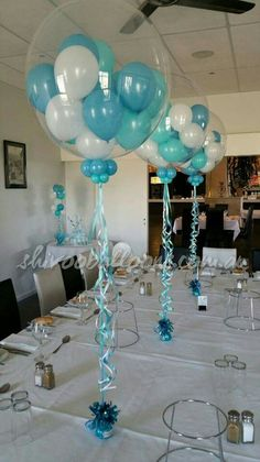 - centerpieces - custom-made balloon decor Coburg North - shivoo balloons a. - – centerpieces – custom-made balloon decor Coburg North – shivoo balloons and decor spec - Shower Party, Baby Shower Parties, Baby Shower Themes, Baby Boy Shower, Shower Ideas, Balloon Centerpieces, Shower Centerpieces, Masquerade Centerpieces, Wedding Centerpieces