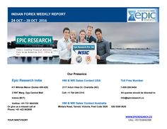 Epic research weekly forex report of 24 oct 2016