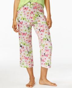 Hue Butterfly-Print Capri Pajama Pants - Bras 9fe30d093