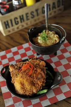 Whiskey Kitchen, Nashville...my fav place for hot chicken and fried pickles!