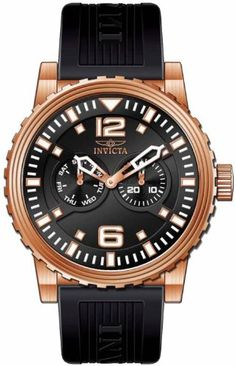 Men's Wrist Watches - Invicta Mens 13647 Specialty Quartz Chronograph Black Dial Watch >>> Click image to review more details.