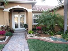 Front Lawn Design Ideas 1000 images about front lawns on pinterest front yards curb appeal and small front yards Front Yard Rock Garden Idea And Landscaping Design