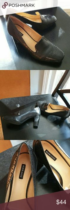 Black leather, 1940's style heels, Alex Marie Alex Marie, retro heels, great condition, inside and out, rarely worn, black leather.  ALL OFFERS CONSIDERED! Alex Marie Shoes Heels