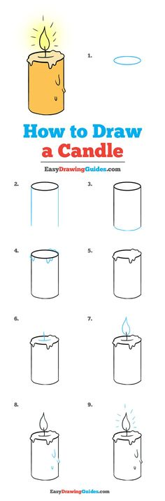 How to Draw a Candle - Really Easy Drawing Tutorial