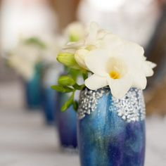 We've long had in mind to use our Winter Fairytale collection in a styled shoot… Candelabra, Event Design, Wedding Designs, Fairytale, Glass Vase, Wedding Decorations, Pastel, Hand Painted, Candles