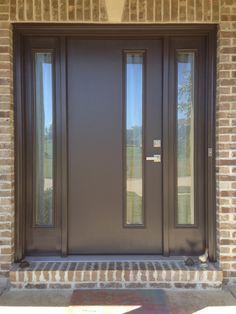 Therma tru pulse solei fiberglass door painted stop with for Therma tru pulse